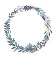 graphic beautiful floral wreath vector image