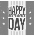 Happy Independence Day festive vintage Background vector image