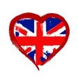 I Love Britain vector image