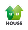 logo home in the form of arrows vector image