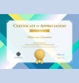modern certificate of appreciation template with vector image