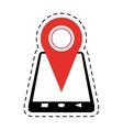 smartphone location pin map gps cut line vector image