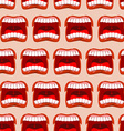 Yells lips seamless pattern cry background vector image