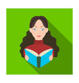 librarian icon in flat style isolated on white vector image