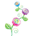 3d funny flower vector image