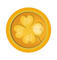 coins with clover icon vector image