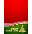 Merry Christmas document template vector image