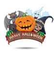 Happy Halloween fun banner vector image