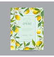 Tropical Floral Colorful Frame Wedding Card vector image