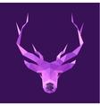 Horned animal deer head logo low poly vector image