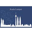 Kuala Lumpur city skyline on blue background vector image
