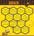 litle bee calendar 2015 vector image