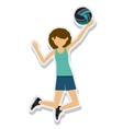 person figure athlete volleyball sport icon vector image