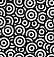 rounds black and white seamless pattern vector image