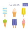 Set of ice-creams and popsicles vector image