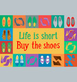 shoes in pop art style vector image