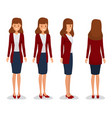 woman character constructor for different view vector image