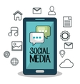 smartphone technology social media design isolated vector image