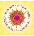Yoga world day vector image