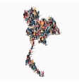 people map country Thailand vector image