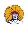 Native American Chief vector image vector image