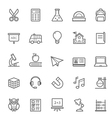 Set of Outline Stroke Education Icons vector image vector image