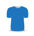 Blank t shirt blue template vector image