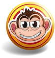 Monkey badge vector image