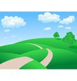rolling hills background vector image vector image