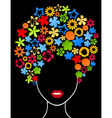 female hairdress from plants a vector illustration vector image vector image