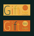 Gift voucher template Vintage style vector image vector image