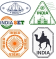 India stamps set vector image