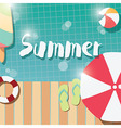 Modern typographic summer poster design vector image