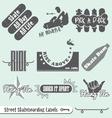 Skateboarding Labels vector image vector image