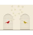 Bird of love4 vector image