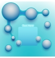 Blue abstract banner with place for text vector image