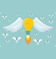bulb icon with eureka concept vector image