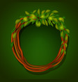 frame of roots and green leaves vector image