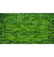 Green brick wall vector image