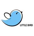 little bird icon vector image