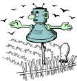 robot scarecrow vector image