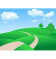 rolling hills background vector image
