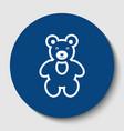 teddy bear sign white vector image