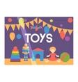 Toy shop facade vector image