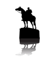 Warrior on horse monument vector image
