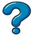 A question mark symbol vector image vector image