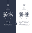 spanish christmas and new year greeting card vector image