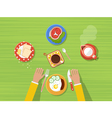 Kitchen Top View Poster vector image