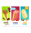 Ice Cream Vertical Banners vector image