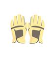 golf gloves sport equipment vector image